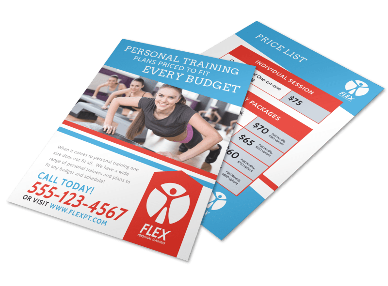 Personal Training Pricing Flyer Template Preview 1