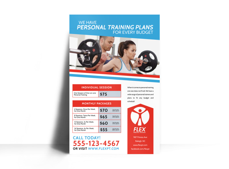 Personal Trainer Pricing Poster Template Preview 3