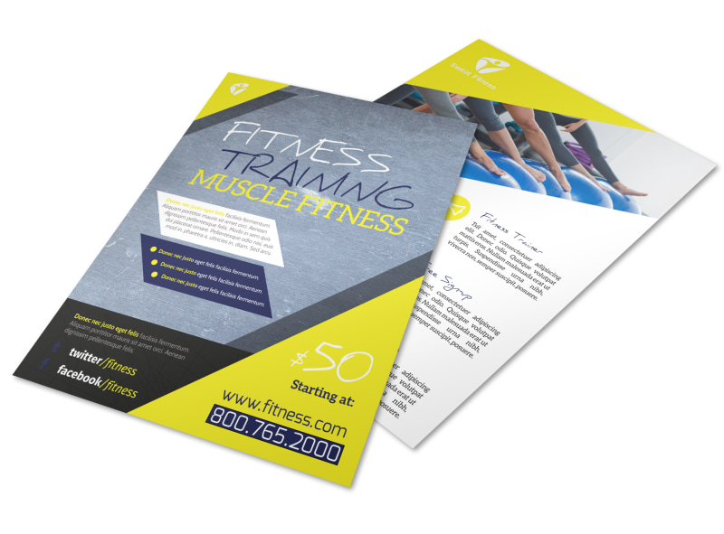 Personal Trainer Promotional Ads Flyer Template Preview 4