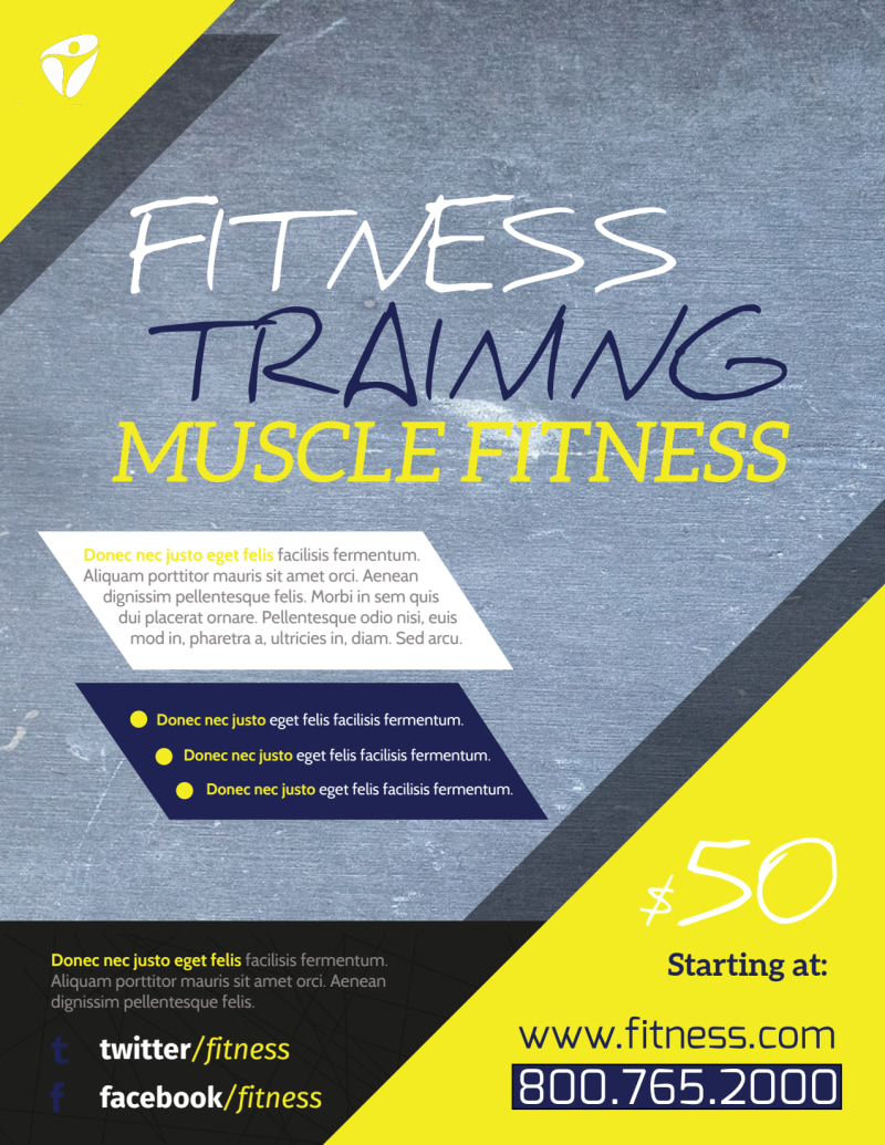 Personal Trainer Promotional Ads Flyer Template Preview 2