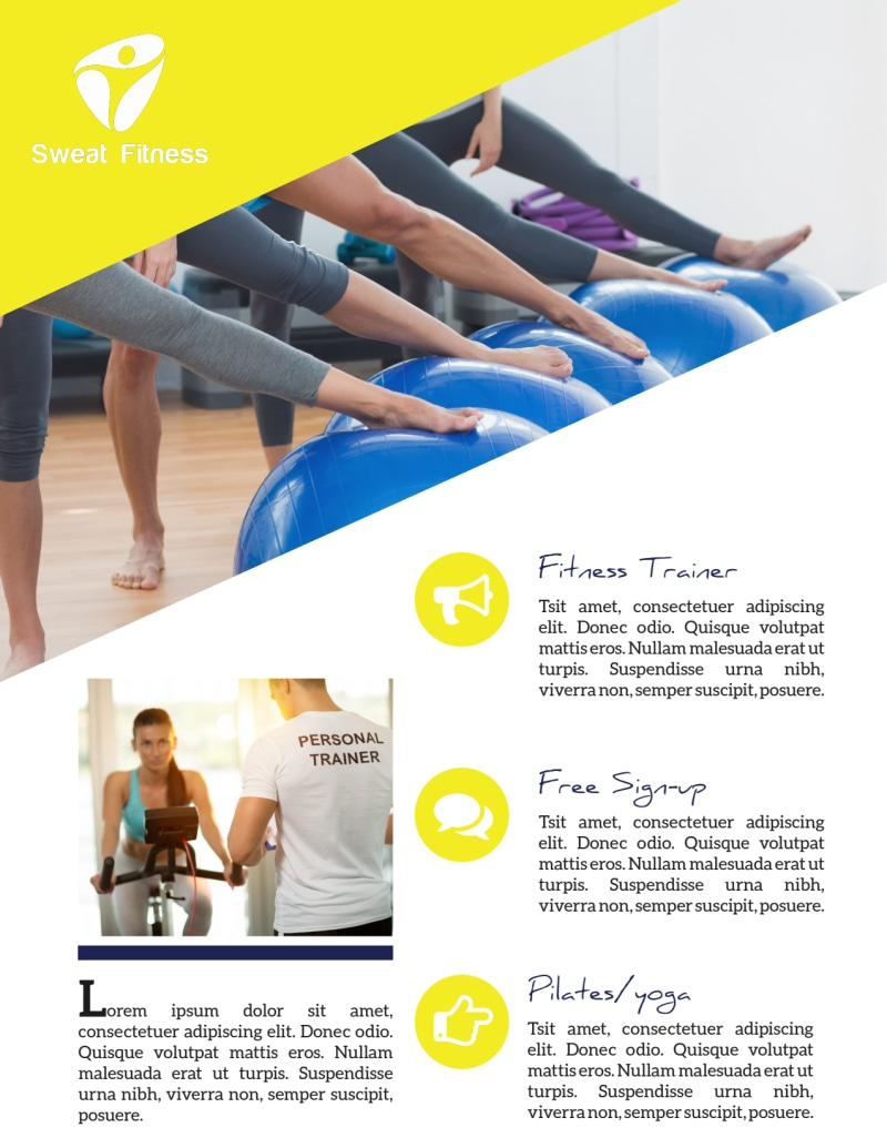 Personal Trainer Promotional Ads Flyer Template Preview 3