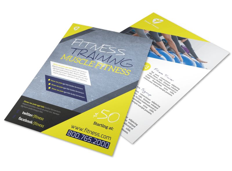 Personal Trainer Promotional Ads Flyer Template Preview 1