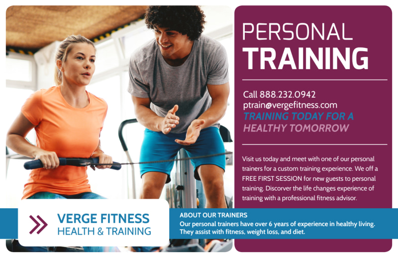 Personal Trainer Promotional Ad Postcard Template Preview 2