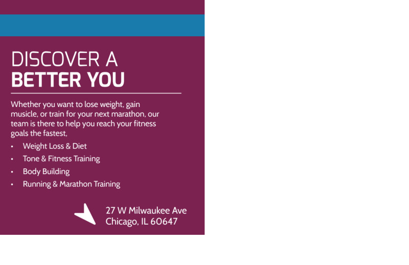 Personal Trainer Promotional Ad Postcard Template Preview 3