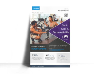Personal Trainer Promotional Poster Template