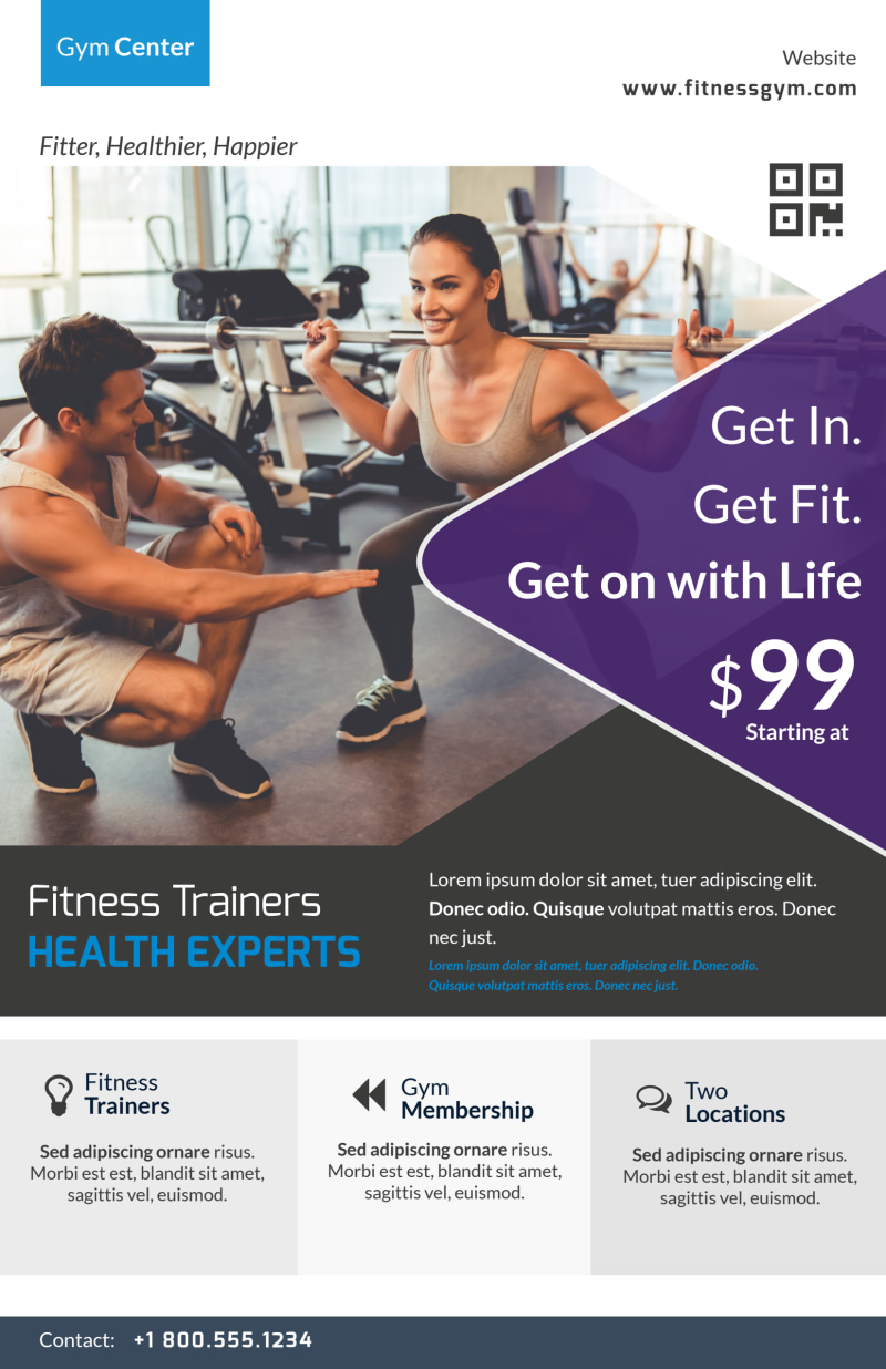 Personal Trainer Promotional Poster Template Preview 2