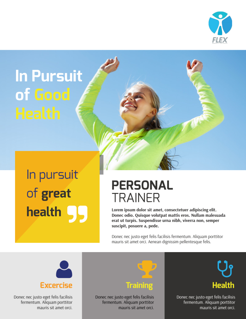 Personal Trainer Performance Event Flyer Template