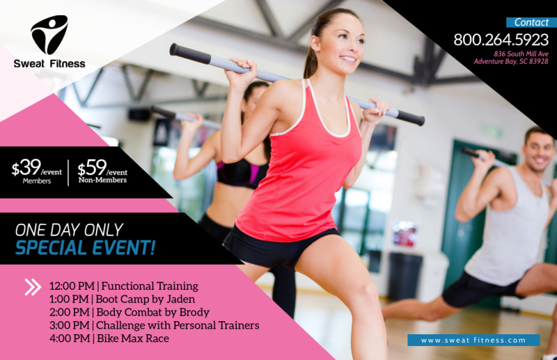 Personal Trainer One Day Event Postcard Template Preview 2
