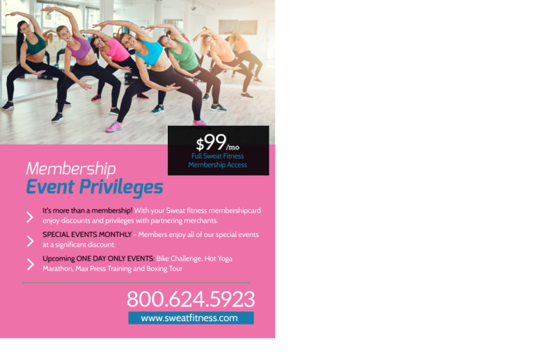 Personal Trainer One Day Event Postcard Template Preview 3