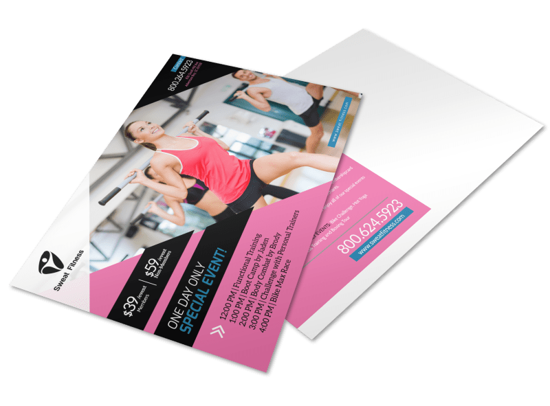 Personal Trainer One Day Event Postcard Template Preview 1