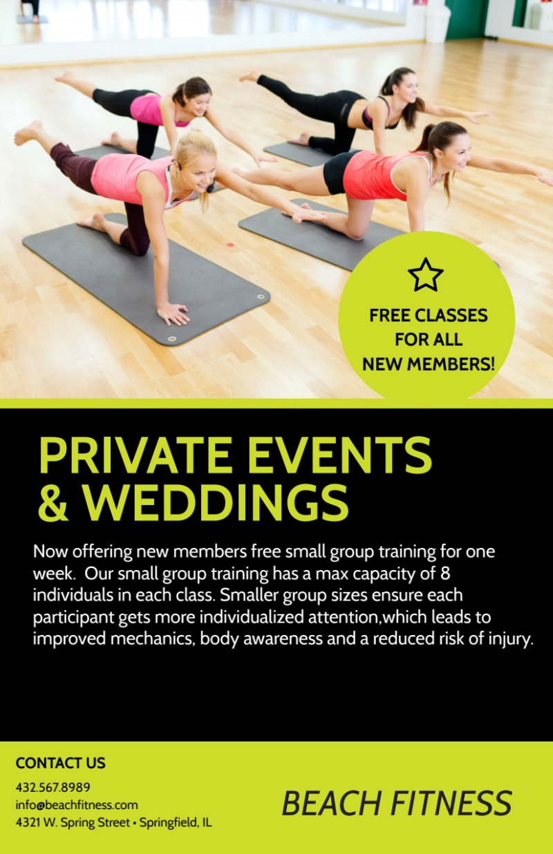 Personal Trainer New Years Flyer Template Preview 3