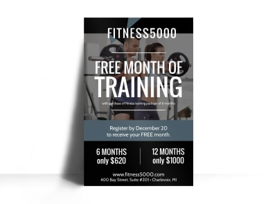 Personal Trainer Special Events Poster Template preview