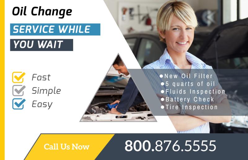 Auto Repair Oil Change Postcard Template Preview 2