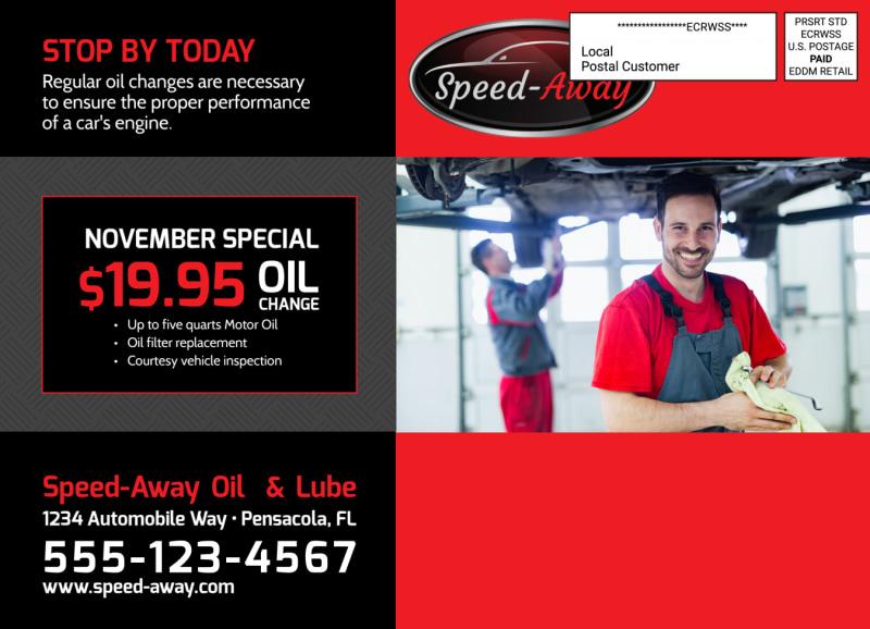 Auto Repair Oil Change EDDM Postcard Template Preview 3