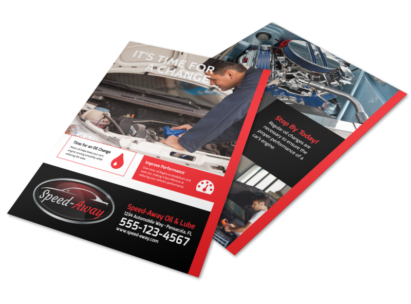 Auto Repair Oil Change Flyer Template Preview 4