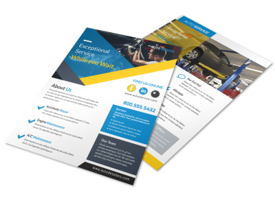 Exceptional Auto Repair Flyer Template preview