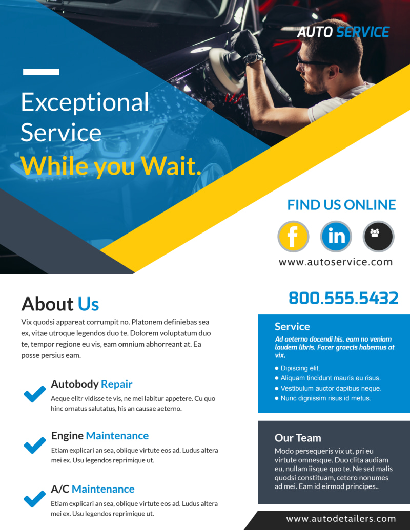 Exceptional Auto Repair Flyer Template Preview 2