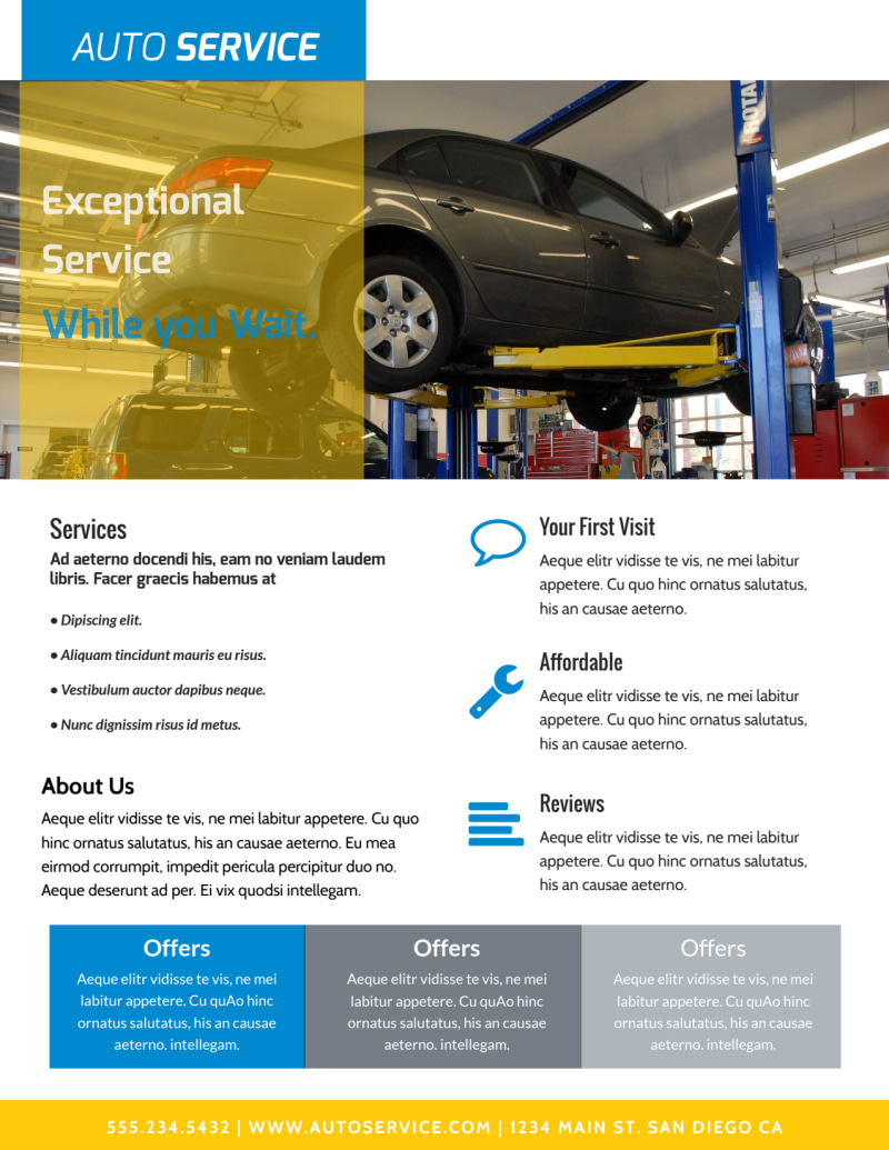 Exceptional Auto Repair Flyer Template Preview 3