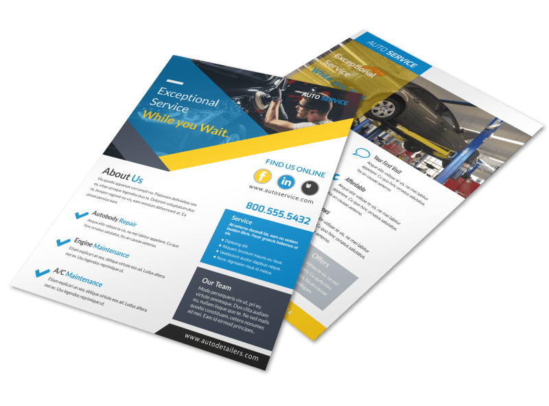 Exceptional Auto Repair Flyer Template Preview 1