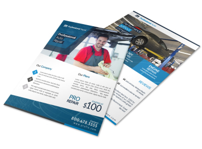 Professional Auto Repair Flyer Template preview
