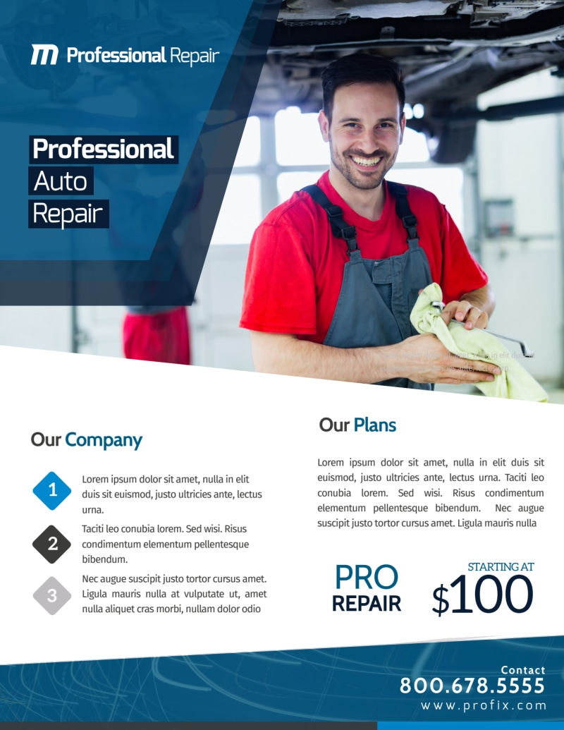 Professional Auto Repair Flyer Template Preview 2