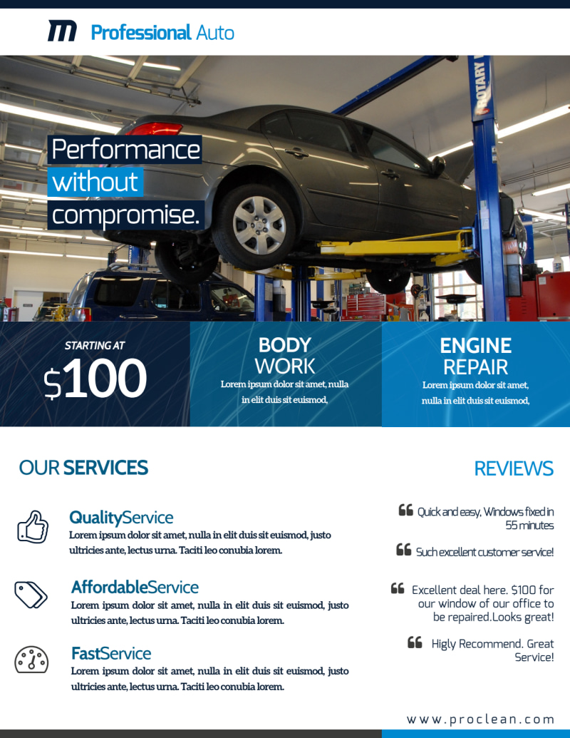 Professional Auto Repair Flyer Template Preview 3