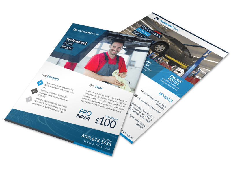 Professional Auto Repair Flyer Template Preview 1