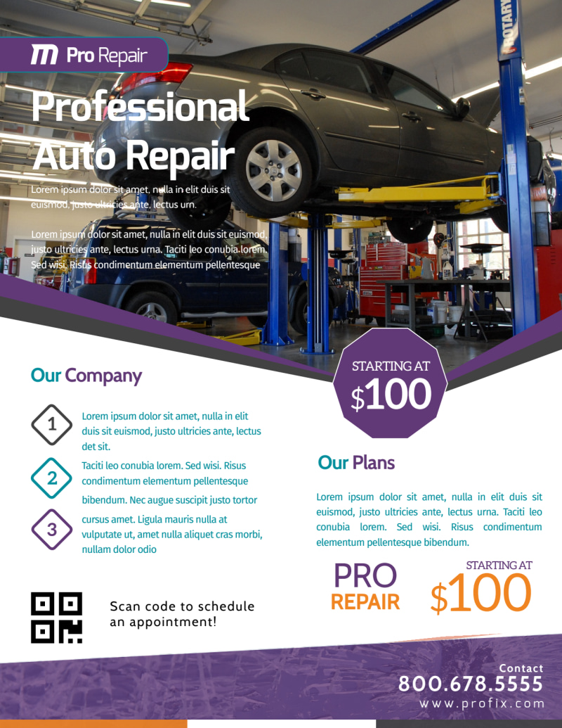 Awesome Auto Repair Flyer Template Preview 2