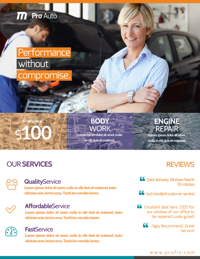 Awesome Auto Repair Flyer Template Preview 3
