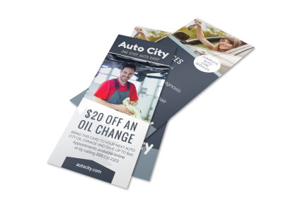 Auto City Repair Flyer Template preview