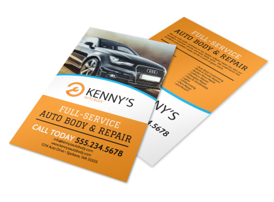 Full-Service Auto Repair Flyer Template preview