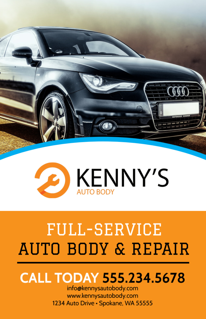 Full-Service Auto Repair Flyer Template Preview 2