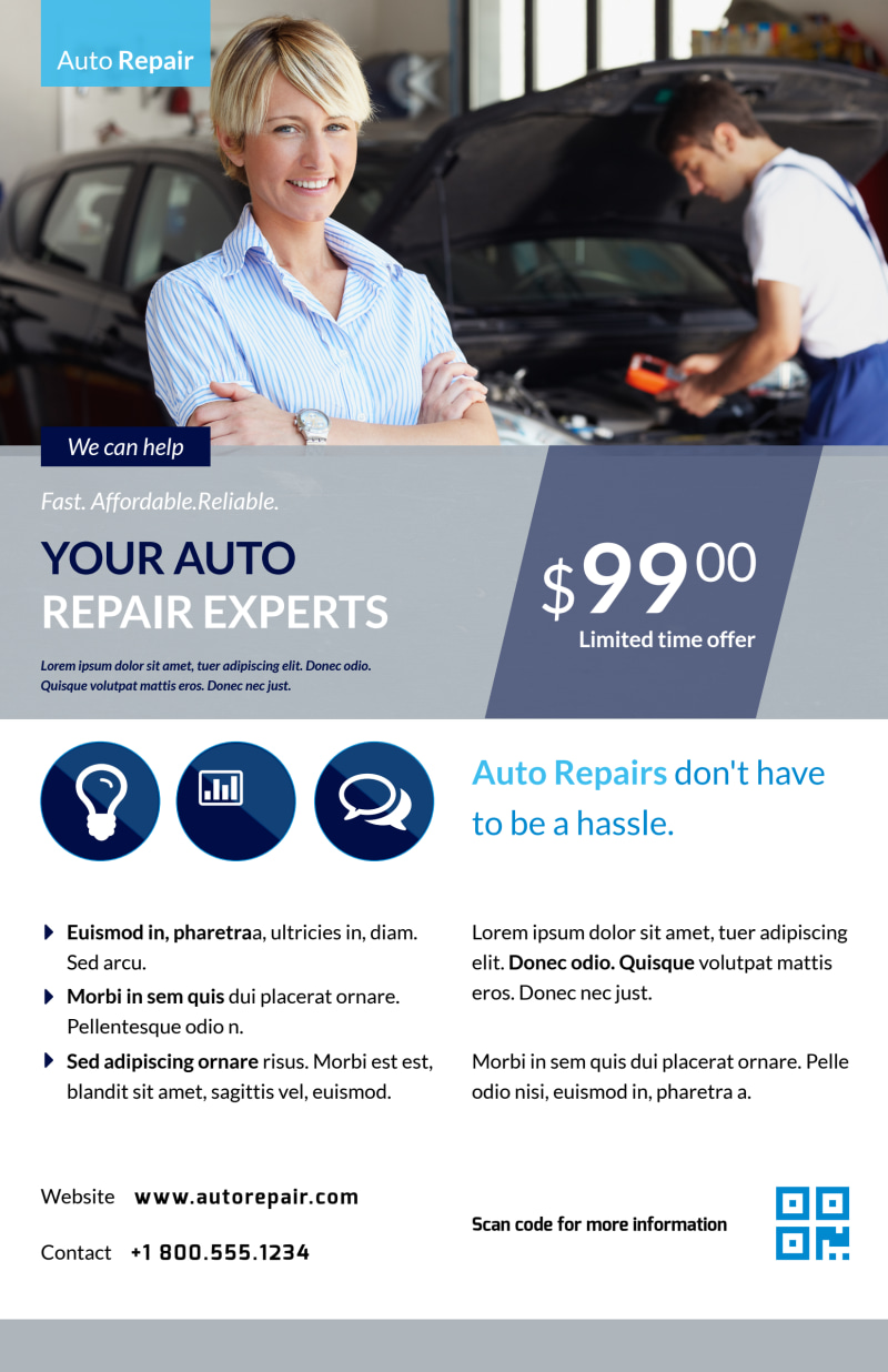Auto Repair Experts Poster Template Preview 2