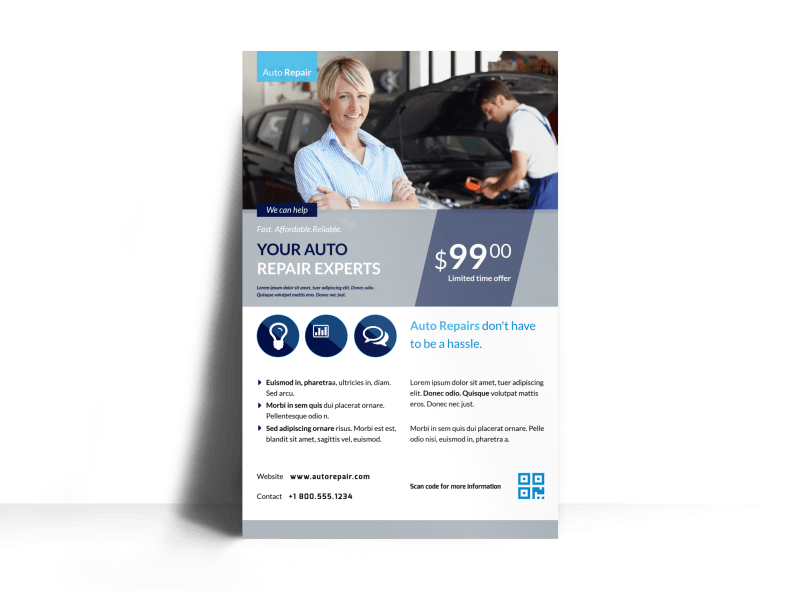 Auto Repair Experts Poster Template Preview 1