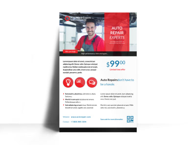 Elite Auto Repair Poster Template preview