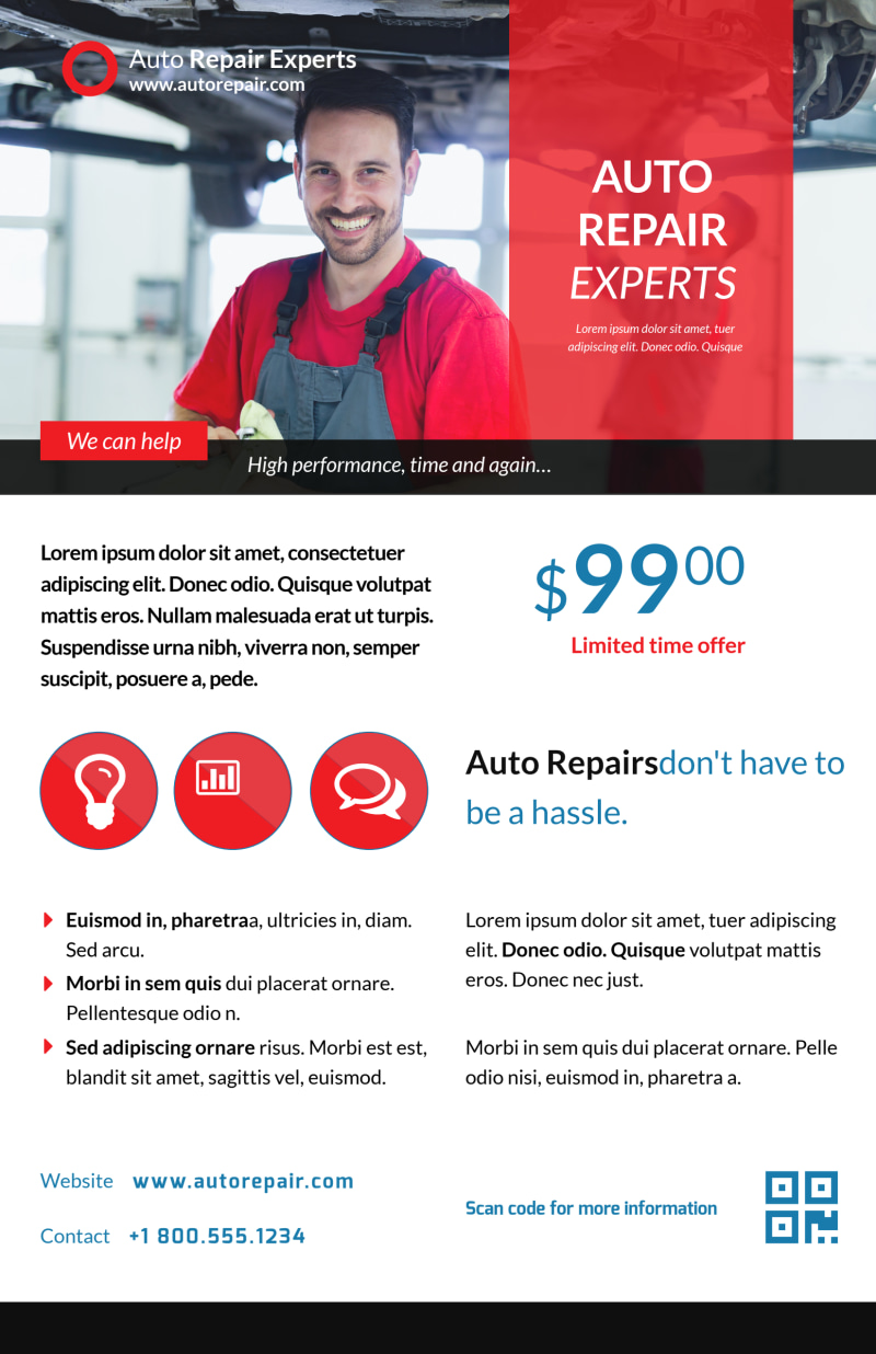 Elite Auto Repair Poster Template Preview 2