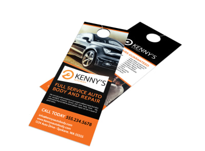 Auto Repair Door Hanger Template