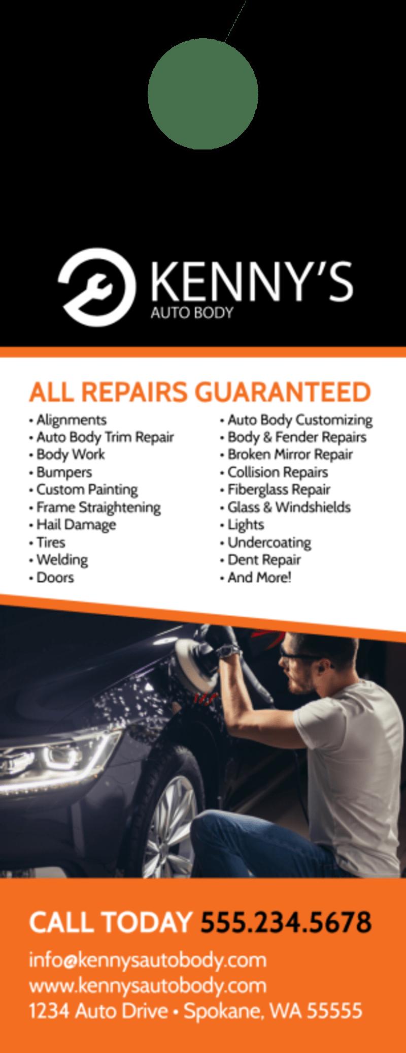 Auto Repair Door Hanger Template Preview 3
