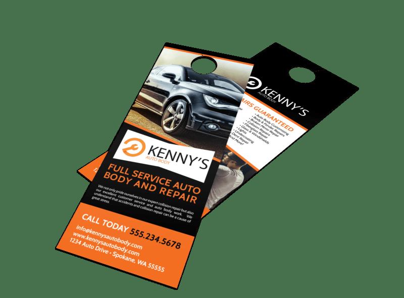 Auto Repair Door Hanger Template Preview 1