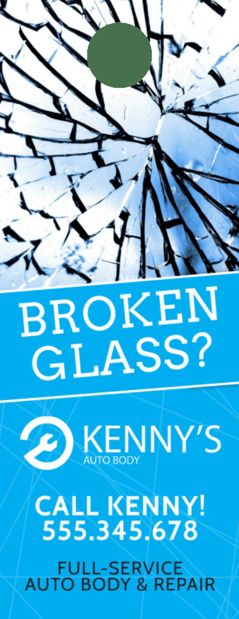 Broken Glass Auto Repair Door Hanger Template Preview 2