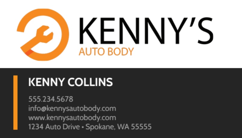 Modern Auto Repair Business Card Template Preview 2