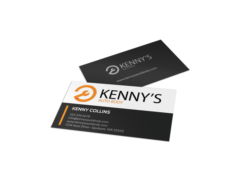 Modern Auto Repair Business Card Template Preview 1