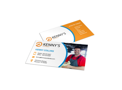 Pro Auto Repair Business Card Template preview