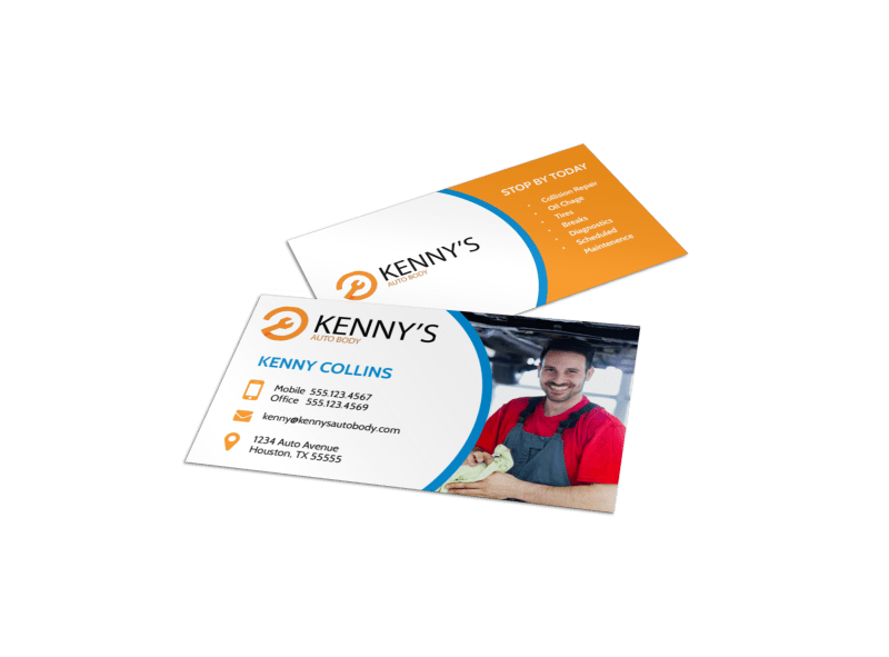 Pro Auto Repair Business Card Template Preview 1