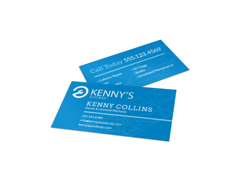 Friendly Auto Repair Business Card Template
