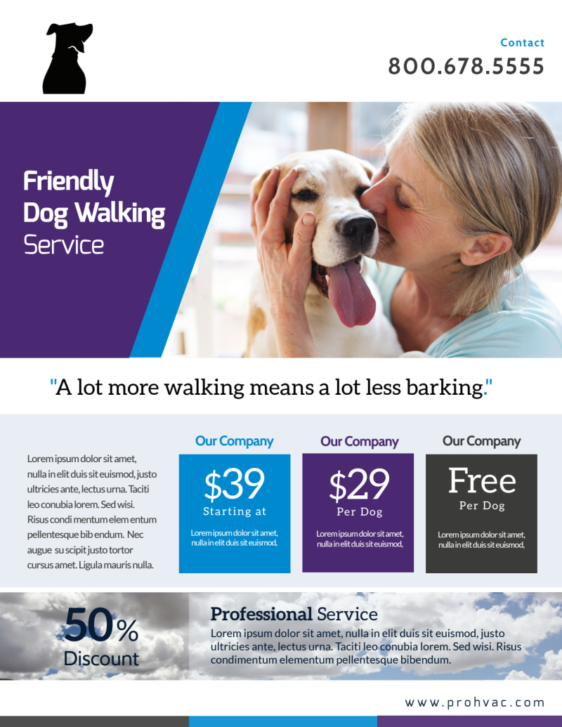 Pro Dog Walking Flyer Template Preview 2