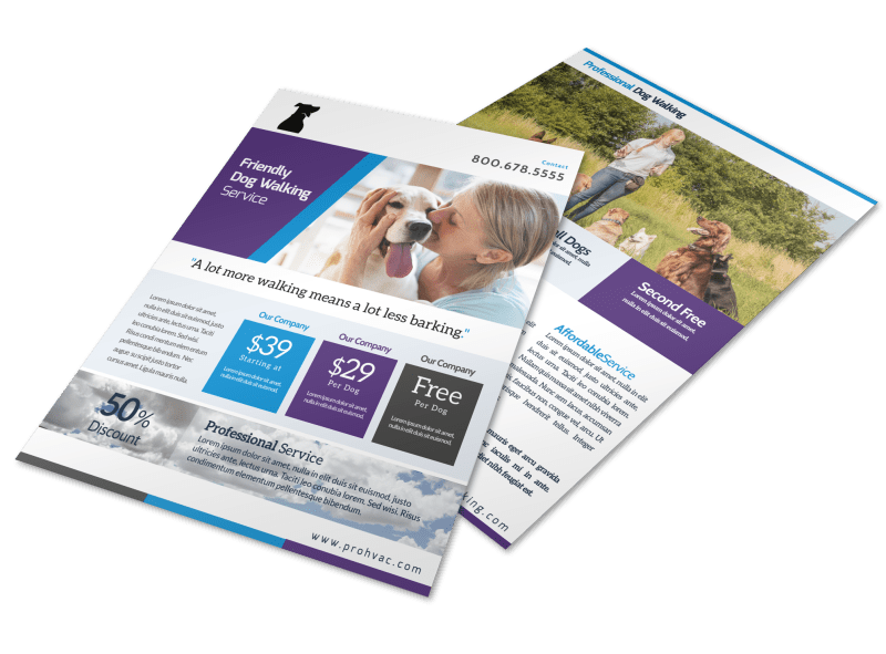 Pro Dog Walking Flyer Template Preview 1