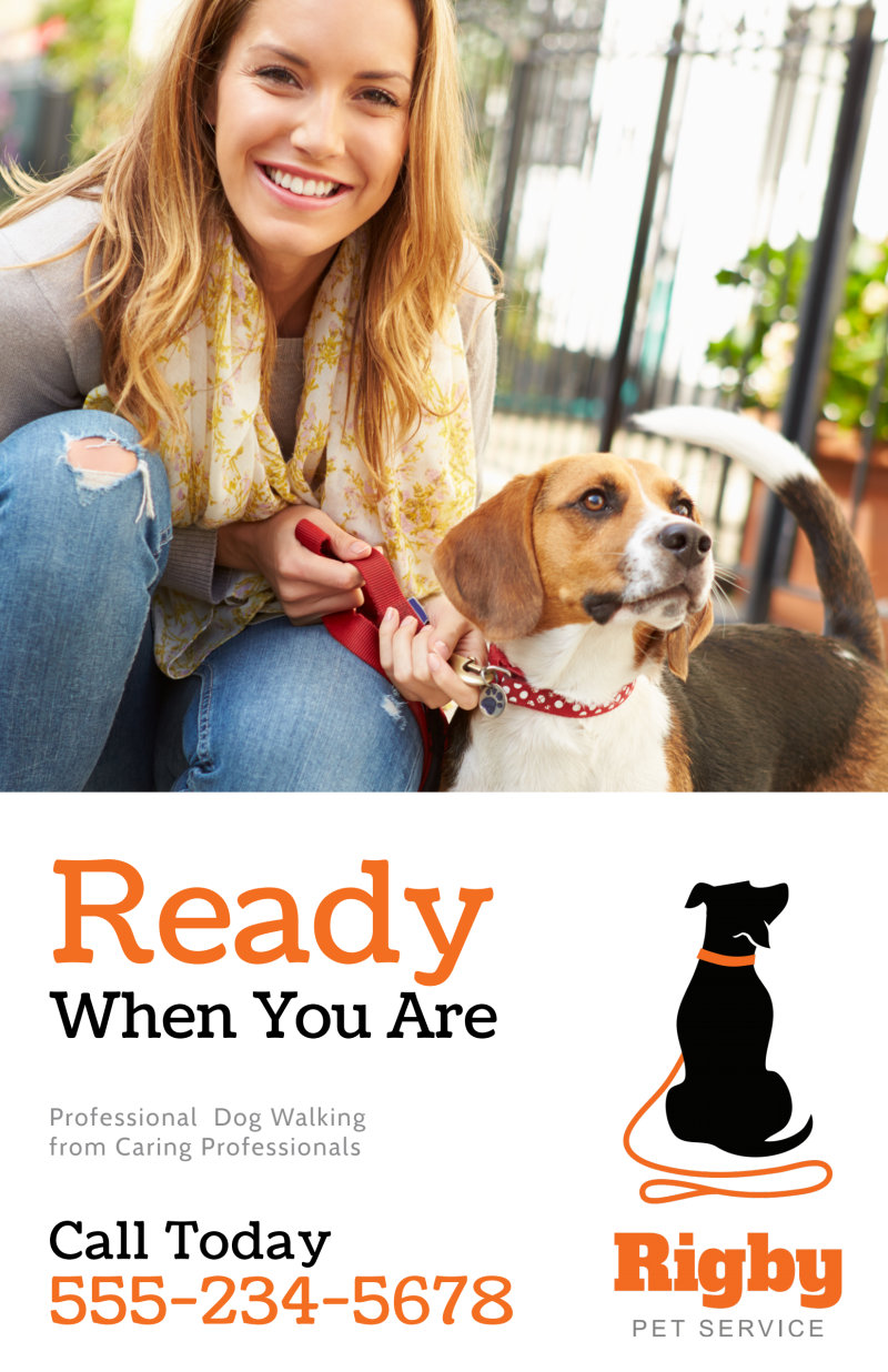 Dog Walking Poster Template Preview 2