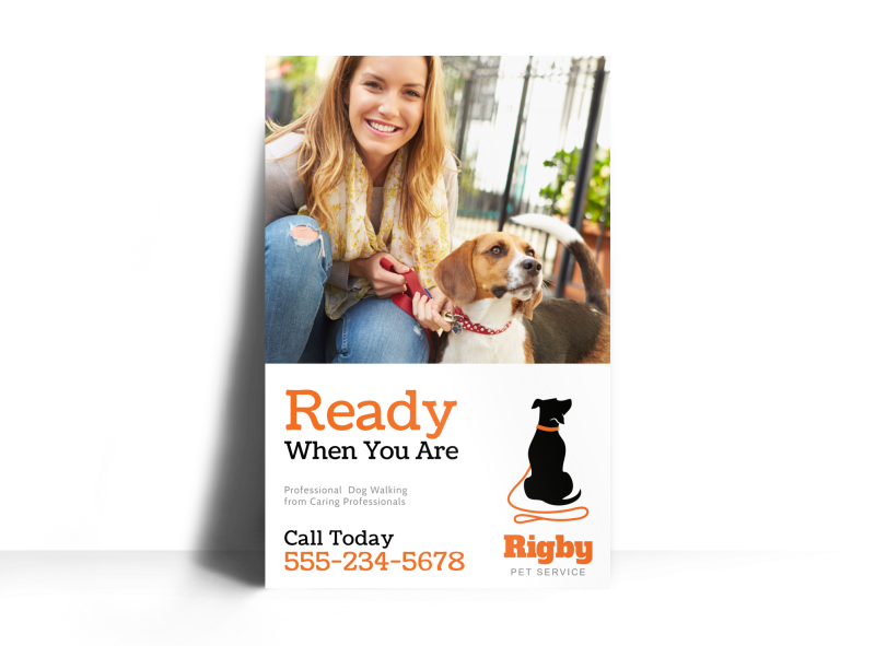 Dog Walking Poster Template Preview 1