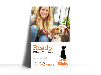 Dog Walking Poster Template preview